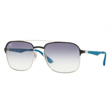 Ray-Ban RB3570 910919 SILVER/BLACK CLEAR GRADIENT LIGHT BLUE napszemüveg
