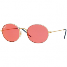 Ray-Ban RB3594 9093C8 GOLD ON TOP WHITE PINK MIRROR RED napszemüveg