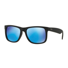 Ray-Ban RB4165 622/55 JUSTIN BLACK RUBBER GREEN MIRROR BLUE napszemüveg