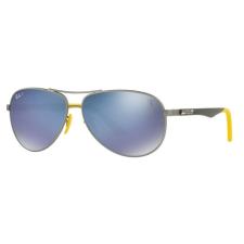 Ray-Ban RB8313M F003H0 FERRARI MATTE GUNMETAL GREY MIRROR BLUE POLAR napszemüveg napszemüveg