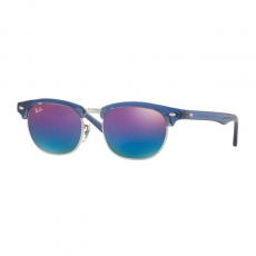 Ray-Ban RJ9050S 7037B1 JUNIOR CLUBMASTER TRANSPARENT BLUE GREEN MIRROR BLUE GRADIENT VIOLETT gyermek napszemüveg