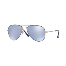 Ray-Ban RJ9506S 264/1U JUNIOR AVIATOR COPPER TOP ON BLUE BLUE FLASH SILVER gyermek napszemüveg