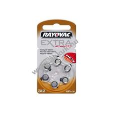 Rayovac Extra Advanced hallókészülék elem típus PR736 6db/csom gombelem