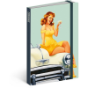 REALSYSTEM Design notesz - Pin-up Girls, lined, 10,5 x 15,8 cm