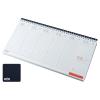 REALSYSTEM Fekvő fehér lapos asztali naptár RS7931, Kék