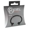 Rebel Rebel Glans Ring - strasszos makkgyűrű ékszer (fekete)