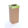 """Recobin Szelektív hulladékgyűjtő, újrahasznosított, 60 l, RECOBIN """"Office"""", zöld"""