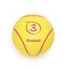 Reebok 3Kg sárga színű 23cm átmérőjű pattanó medicinlabda, professzionális edzőtermi használatra is