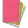 Regiszter, karton, A4, mikroperforált, DONAU, citromsárga 50 db/csomag