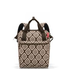 Reisenthel Allrounder R barna gyémánt női bevásárló hátizsák