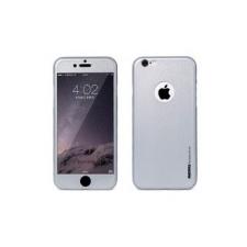 Remax Skin ütésálló kijelző védőfólia és hátlap védő fólia Apple iPhone 6 Plus 5.5, 6S Plus 5.5-höz szürke (0.3mm, 9H)* mobiltelefon előlap