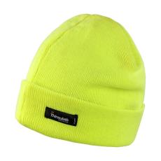 Result Uniszex kötött sapka Result Lightweight Thinsulate Hat Egy méret, Flourescent Sárga
