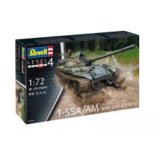 Revell Műanyag ModelKit tartály 03328 - T-55A / AM KMT-6 / EMT-5-gyel (1:72) építőanyag