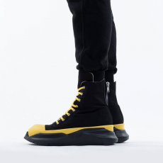 Rick Owens DRKSHDW Abstract Sneakers DU20F1840 TWP BLACK/YELLOW/BLACK