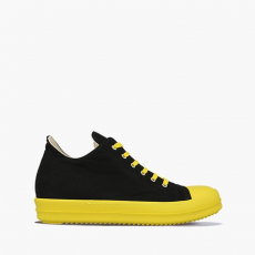 Rick Owens DRKSHDW Low Sneaks DU20F1802 TWP BLACK/YELLOW