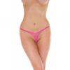 Rimba Csipkés mini tanga, nyitott (rózsaszín)