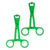 Rimba Olló formájú bimbócsíptető pár (zöld)