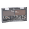 Rimmel London Brow This Way szemöldökformázó szett és paletta 2,4 g nőknek 002 Medium Brown
