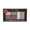 Rimmel London Mini Power Palette szemhéjpúder paletta 6,8 g nőknek 002 Sassy