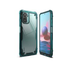 Ringke Xiaomi Redmi Note 10/Note 10S ütésálló hátlap - Ringke Fusion X - turquoise green tok és táska