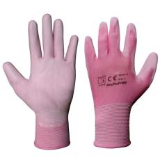 RNYPU-Pink Szerelőkesztyű (Mártott szerelőkesztyű Poliuretánba)