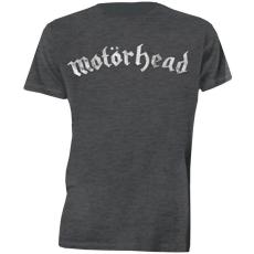 Rock Off Motorhead Distressed Logo Mens Charcoal T Shirt: XL