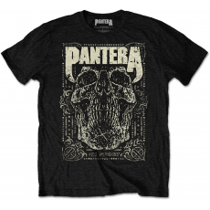 Rock Off Pantera 101 Proof Skull Mens Blk T Shirt: S