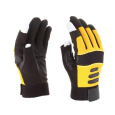 Rock Safety Mechanikai kesztyű, 2 ujja ujjvég nélkül, tenyérfolttal