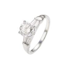 Ródiummal bevont klasszikus gyűrű CZ kristályos díszítéssel #6 + AJÁNDÉK DÍSZDOBOZ (0999.) gyűrű