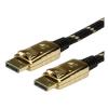 ROLINE Kábel DisplayPort Premium M/M 1.0m