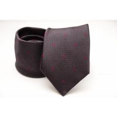 Rossini Prémium selyem nyakkendõ - Sötétbarna-pink mintás