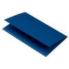 Rössler Papier GmbH and Co. KG Rössler B/6 karton  2 részes 120/240x169 mm 220gr. acél kék