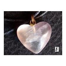 Rózsakvarc szív medál medál