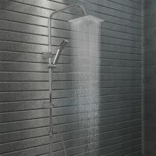 Rozsdamentes acél dupla fejű zuhanyszett kézi zuhannyal kád, zuhanykabin