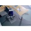 RS OFFICE Székalátét, szőnyegre, E forma, 90x120 cm, RS OFFICE