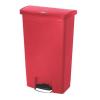 RUBBERMAID Front Step műanyag szemetes kosár, 68 l térfogat, piros
