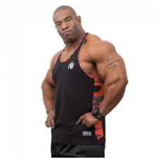 SACRAMENTO CAMO MESH TANKTOP (BLACK/ORANGE) [S] férfi edzőruha