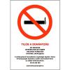 Saját gyártás Tilos a dohányzás matrica - 17x25cm