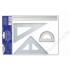 Sakota Vonalzókészlet, műanyag, 4 darabos, SAKOTA (ISKE046)
