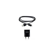 Samsung ETAOU81EBE hálózati töltő adapter + ECC1DU4B microUSB kábel, 5V/1A, fekete, gyári csomagolás nélkül mobiltelefon kellék