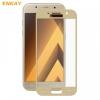 Samsung Galaxy A3 (2017) SM-A320F, Kijelzővédő fólia, ütésálló fólia (az íves részre is!), Tempered Glass (edzett üveg), Enkay, arany
