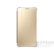 Samsung Galaxy A5 (2016) gyári Clear View Cover flip tok, arany, EF-ZA510CF, (SM-A510) tok és táska