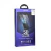 Samsung Galaxy A5 (2017) SM-A520F, Kijelzővédő fólia, ütésálló fólia (az íves részre is!), Tempered Glass (edzett üveg), Roar, 5D, fekete