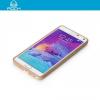 Samsung Galaxy Note 4 SM-N910C, Műanyag hátlap védőtok, Rock Bright, szilikon keret, arany/átlátszó