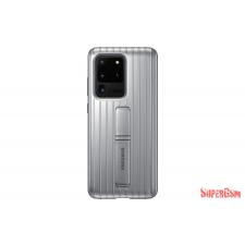 Samsung Galaxy S20 Ultra Protective Standing cover tok, Ezüst tok és táska