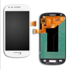 Samsung Gyári Samsung i8190 S3 mini LCD modul fehér színben ORG mobiltelefon kellék