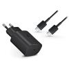Samsung gyári Type-C hálózati töltő adapter + Type-C adat- és töltőkábel - 5V/3A - EP-TA800EBE PD3.0 + EP-DG980BBE - black (ECO csomaglás)