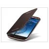 Samsung i9300 Galaxy S III gári flipes hátlap - EFC-1G6FAECSTD - brown