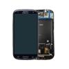 Samsung i9305 Galaxy S3 LTE fekete gyári LCD kijelző érintővel és kerettel