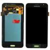 Samsung J320F Galaxy J3 (2016) fekete gyári LCD kijelző érintővel keret nélkül